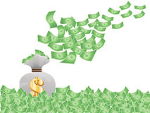 Flying money Stock Photo