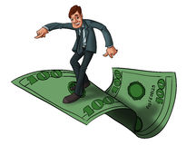 Flying with money Stock Photography