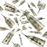 Flying money Royalty Free Stock Image
