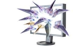 Flying money Stock Image
