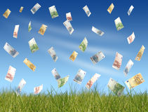 Flying money royalty free illustration