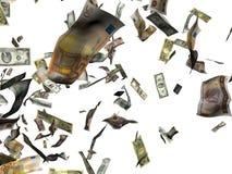 Flying Money. Three dimension illustration royalty free illustration