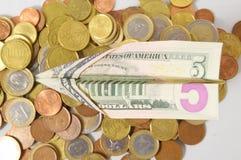 Flying Money Concept a Dollar Stock Photos