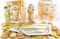 Flying Money Concept a Dollar Royalty Free Stock Photo