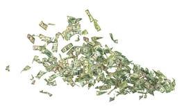 Flying money. Stock Photos
