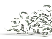Flying Money (Dollar). Flying Money ( with clipping path stock illustration