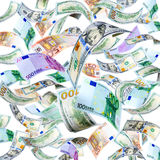 Flying Money Royalty Free Stock Photography