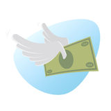 Flying money Stock Image
