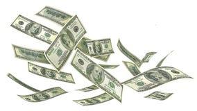 Flying money isolated on a white background. Royalty Free Stock Image