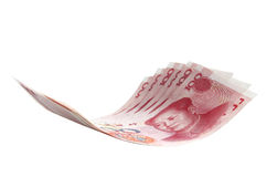 Flying money notes, Chinese Yuan Stock Photography