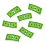 Flying money. Paper banknotes. royalty free illustration