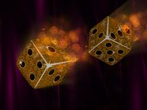 Flying mosaic dice Stock Images