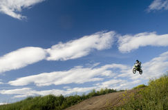 Flying moto Royalty Free Stock Images
