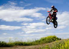 Flying moto Stock Photos