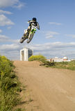 Flying moto Stock Photo