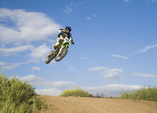 Flying moto Royalty Free Stock Photo
