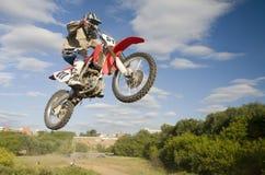 Flying Moto Stock Image