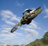 Flying moto Stock Photography