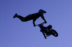 Flying motorbike Royalty Free Stock Photos