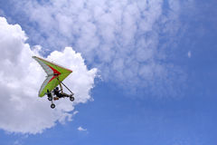 Flying Motorized hang glider Stock Photography