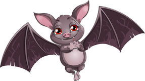 Flying mouse. Bat the vampire on a white background vector illustration