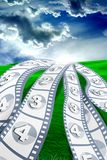 Flying Movie royalty free stock photography