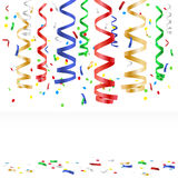 Flying multicolored confetti - party background Royalty Free Stock Photography