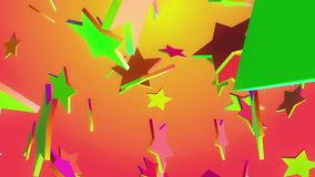 Flying multicolored stars. In backgrounds vector illustration