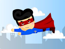 Flying Muscleman Royalty Free Stock Images