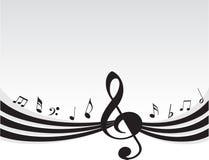 Flying music on grey background Royalty Free Stock Photo