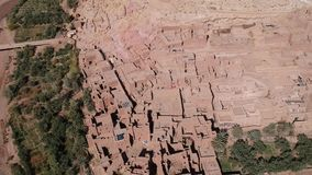 Flying near Ait-Ben-Haddou in Morocco with Drone - UNESCO Ait-Ben-Haddou from above