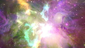 Flying through nebula, Abstract Loopable Background. Flying through beatiful nebula, Abstract Loopable Background stock video