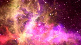 Flying through nebula, Abstract Loopable Background stock footage