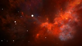 Flying through nebula and star fields in deep space stock footage