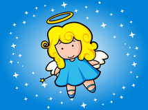 Flying night angel Stock Image