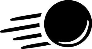Flying Ninepins ball. Vector sports Royalty Free Stock Image
