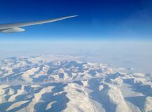 Flying north over the ice sheets of Greenland stock images