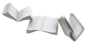Flying notebooks. Flying notebooks on white background Royalty Free Stock Photo