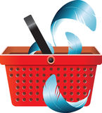 Flying object in shop basket-05 Stock Image