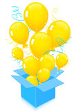 Flying out balloons isolated Royalty Free Stock Photos