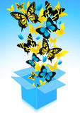 Flying out butterflies Stock Images