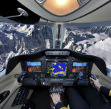 Flying over the Alp Royalty Free Stock Photo