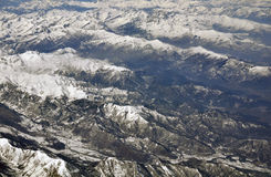 Flying over the Alps Stock Images