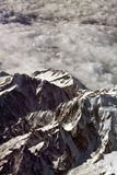 Flying over Alps. Italian - Switzerland alps from an airplane Royalty Free Stock Photos