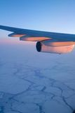 Flying Over the Arctic Stock Photography