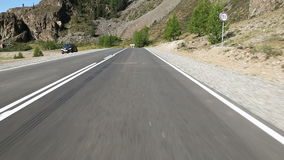 Flying Over the Asphalt Road Stock Photography