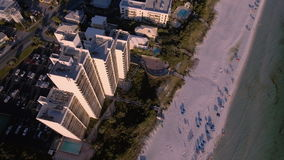 Flying over the beaches of South Beach, Miami, Florida stock video