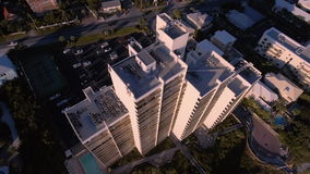 Flying over the beaches of South Beach, Miami, Florida stock video footage