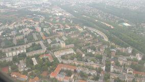 Flying over Berlin district pankow and tegel Germany. Aerial view.  stock video