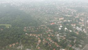 Flying over Berlin district pankow and tegel Germany. Aerial view.  stock footage